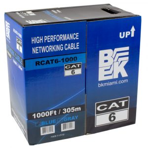 CAT6 UTP 4 Pairs Solid Ethernet/Network Cable 1000 Feet - Blue RCAT6-1000
