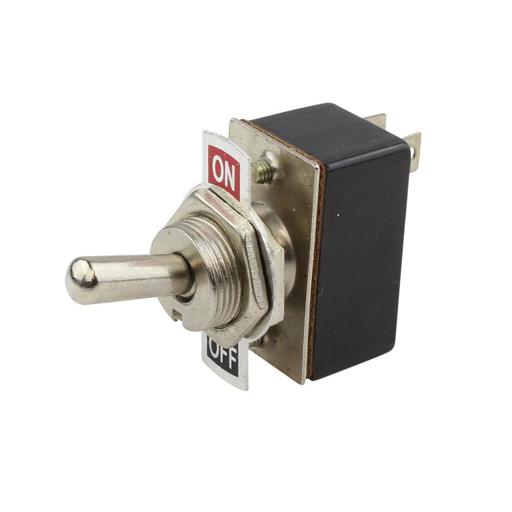 1x Mini Rocker Switch SPST ON-OFF S654 Toggle 6 Amp 250V 10 Amp 125V AC 2 Pin