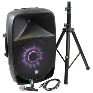 "15"" 800 Watts 2-Way Active PA Speaker Built in LED Light - Combo"