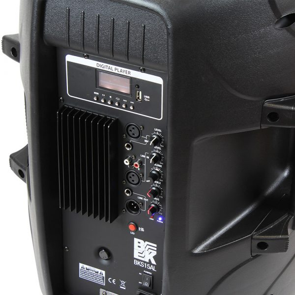 "15"" 800 Watts 2-Way Active PA Speaker Built in LED Light"