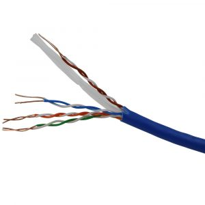 CAT6 UTP 4 Pairs Solid Ethernet/Network Cable 1000 Feet - Blue